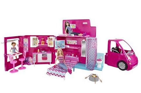 Barbie Sisters' Life in The Dreamhouse Camper