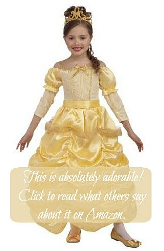 Girls Belle costume from beauty and the beast